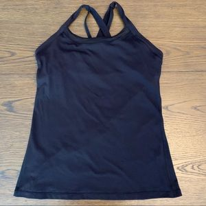 Lululemon Black Cross Back Tank Top